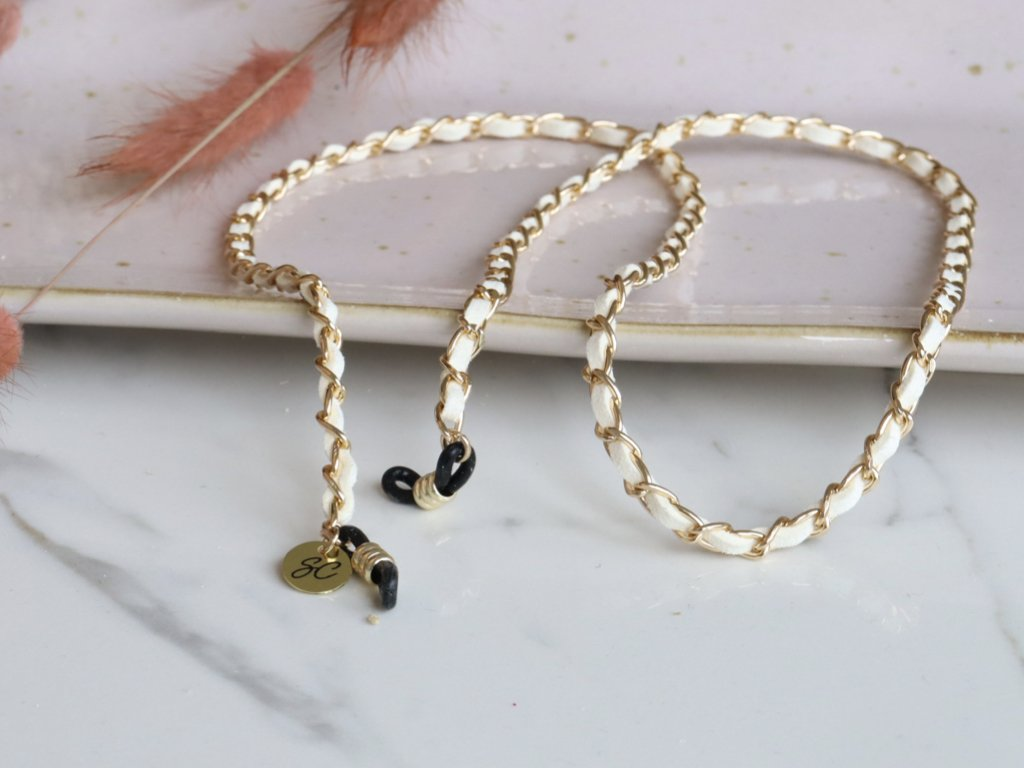 Image of Classy C Wit-Goud - Koord zonnebril | SUNNY CORDS