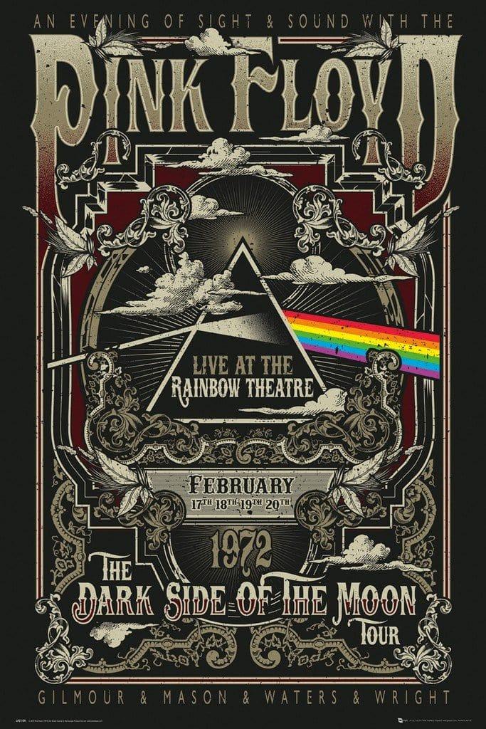 Image of GBeye Pink Floyd Rainbow Theatre Poster 61x91,5cm