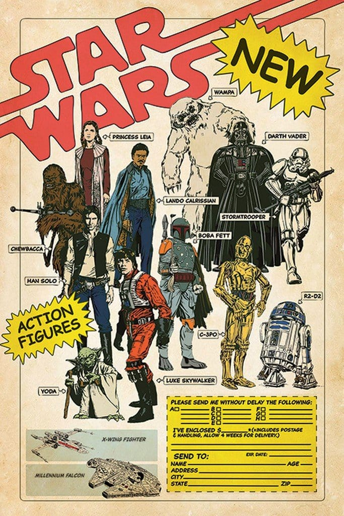 Image of Pyramid Star Wars Action Figures Poster 61x91,5cm