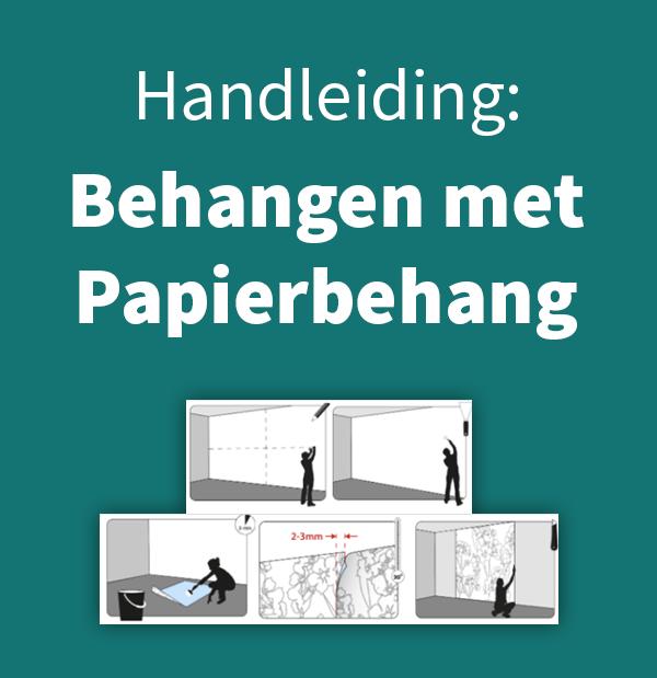 Bekijk de instructie over papierbehang